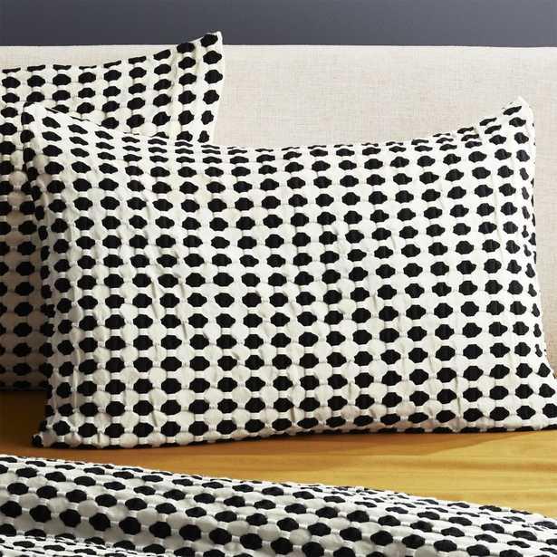 Estela Matlesse Black and White Standard Shams Set of 2 - CB2
