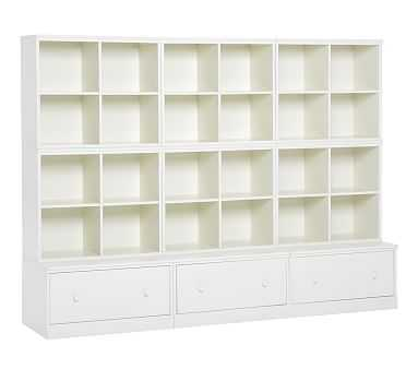 Cameron 6 Cubbies & 3 Drawer Bases, Simply White, Flat Rate - Pottery Barn Kids