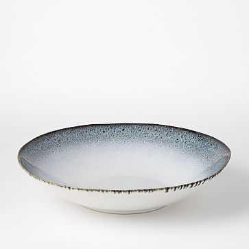 Reactive Glaze Salad Bowl, Black + White - West Elm