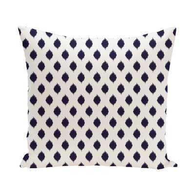 Cop-Ikat Geometric Print Outdoor Throw Pillow - Wayfair
