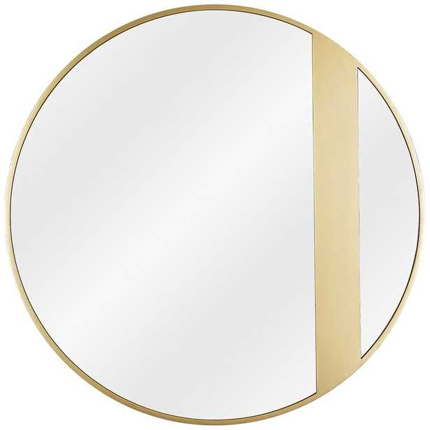 """Varaluz Casa Cadet Gold 30"""" Round Wall Mirror - Style # 73M84 - Lamps Plus"""