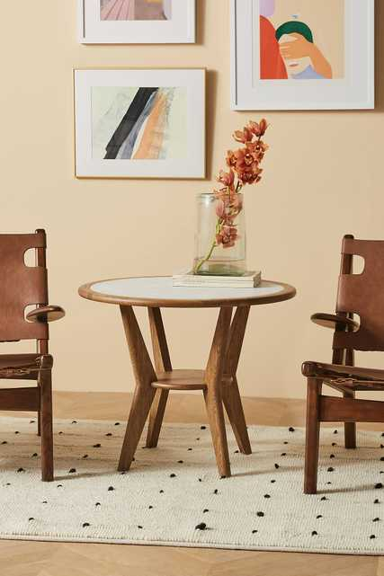 Soho Home x Anthropologie Marble Inset Side Table - Anthropologie