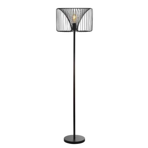 JONATHAN  Y Gridley 61 in. Metal LED Floor Lamp, Black - Home Depot