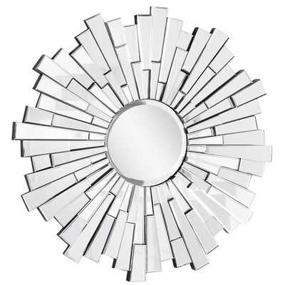 Sunburst Silver Wall Mirror - Wayfair