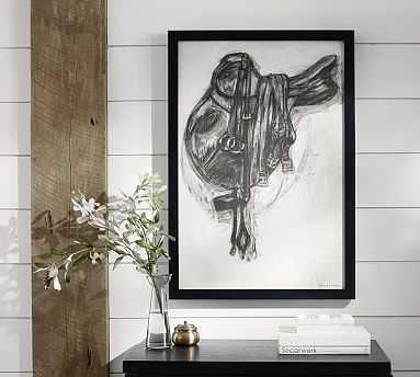 "Charcoal Saddle Framed Print, 29 x 42"" - Pottery Barn"