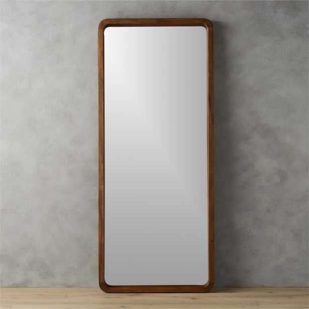 Acacia Wood Floor Mirror - CB2
