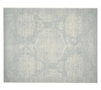Barret Printed Rug, 8x10', Porcelain Blue - Pottery Barn