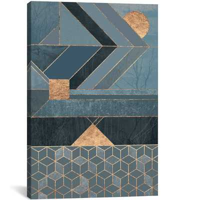 'Nordic' Graphic Art on Wrapped Canvas in Blue - Wayfair