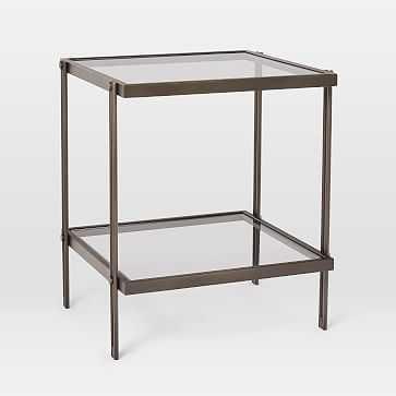Fulton Side Table, Antique Bronze - West Elm
