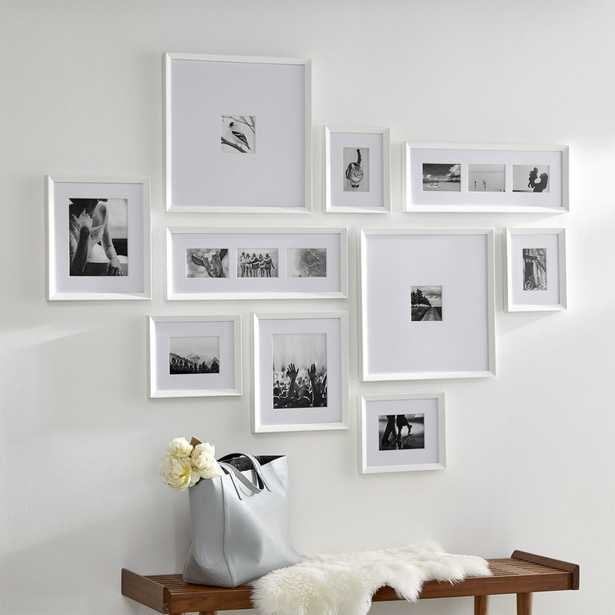 Icon White Frame Gallery, Set of 10 - Crate and Barrel