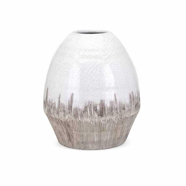 IMAX Edwin White Medium Vase - Home Depot