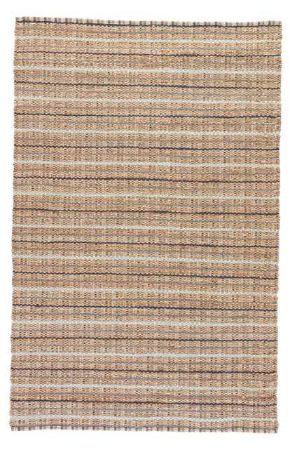 "Harringdon Natural Stripe Gray/ Beige Area Rug (3'6"" X 5'6"") - Collective Weavers"
