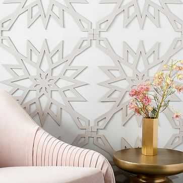 Muratto Cork Wall Covering , Geo Burst, Stone (set includes 4 tiles that cover 10.75'sq. of wall space) - West Elm