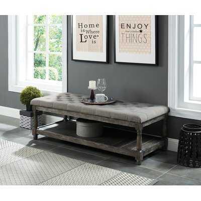 Emmert Upholstered Storage Bench - Wayfair
