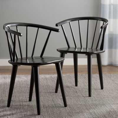 Arielle Arm Chair / Set of 2 / Black - Wayfair