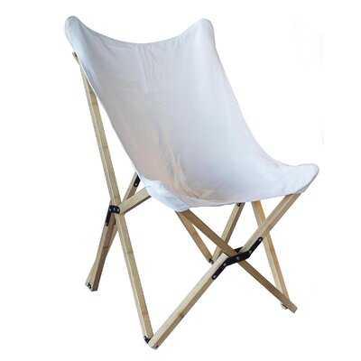 Yacat Canvas and Bamboo Butterfly Chair - Wayfair