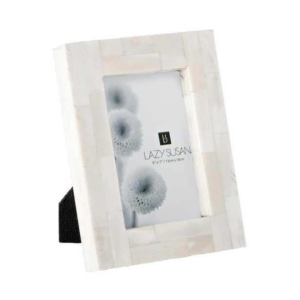 Bone Block 1-Opening 5 in. x 7 in. Natural Bone Picture Frame - Home Depot