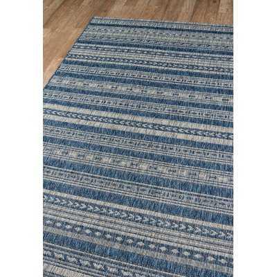 Tuscany Blue Indoor/Outdoor Area Rug - Wayfair