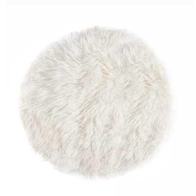 Lauren Ciruclar Sheepskin Rug 5' Diameter - Natural - Wayfair