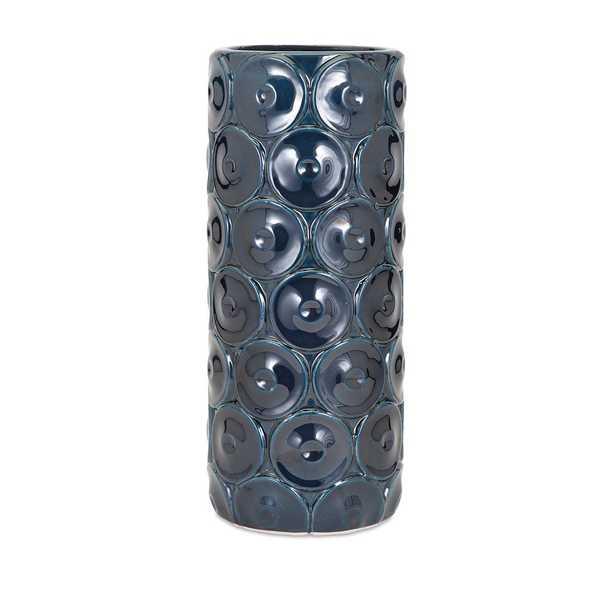 Imax Large Blue Ceramic Decorative Vase, Blues - Home Depot