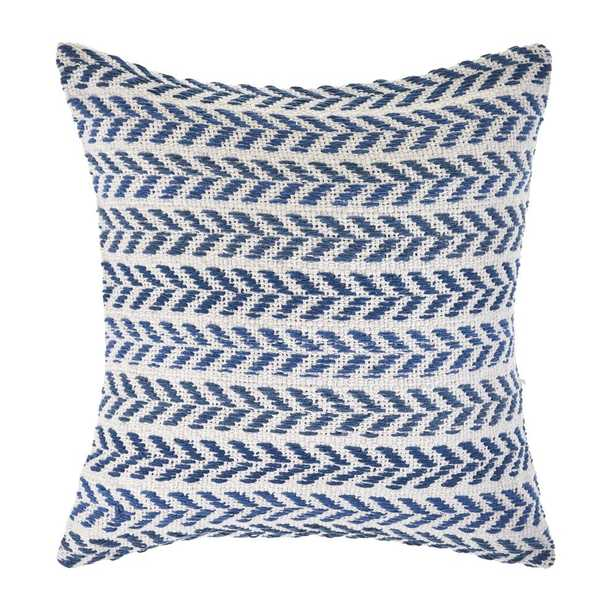 Chevron Lilac and Green 18 in. Standard Throw Pillow Spring Day, Dark Blue / White - Home Depot