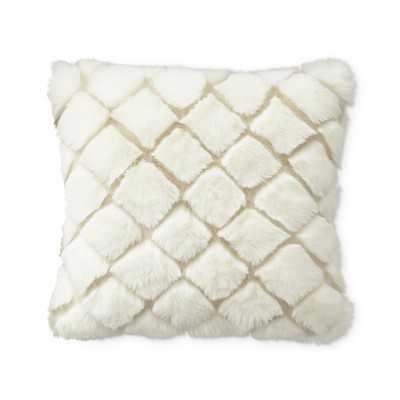 "Faux Fur Pillow Cover, Ivory Diamond Wolf, 18"" X 18"" - Williams Sonoma"