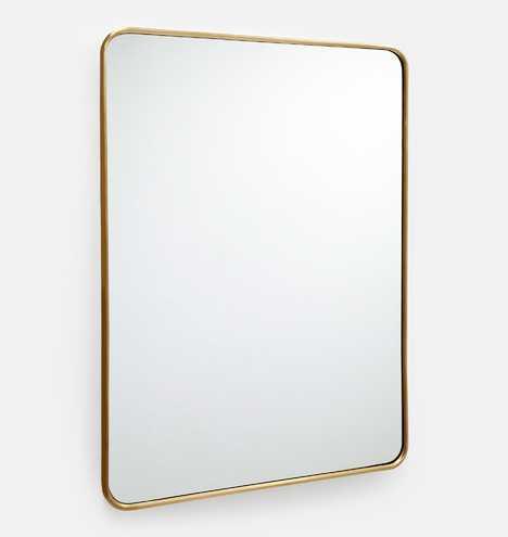 "30"" x 42"" Rounded Rectangle Metal Framed Mirror - Rejuvenation"