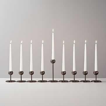 Modern Brass Candleholders Set of 9, Bronze - West Elm