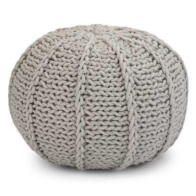 Edmonson Hand Knit Pouf - Wayfair