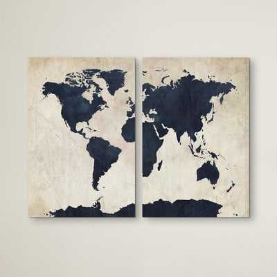 'Globetrotter' 2 Piece Painting Print Set on Wrapped Canvas - AllModern