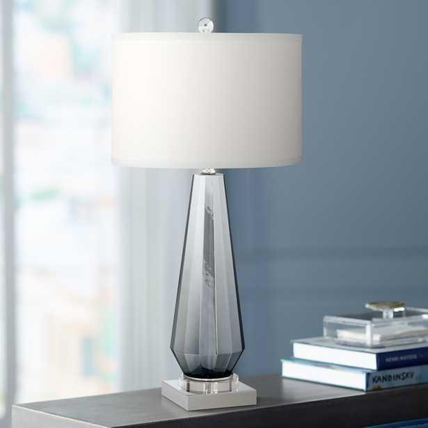 Charcoal Topaz Chrome Table Lamp - Style # 43D64 - Lamps Plus