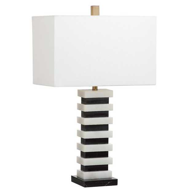 Safavieh Hugo Marble 26.5 in. Black/White Table Lamp - Home Depot