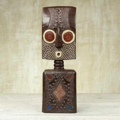Ahomka Mask African Wood Figurine - Wayfair