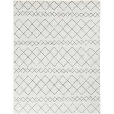 "Calzada Global Gray/White Area Rug 7'10"" x 10'3"" - Wayfair"