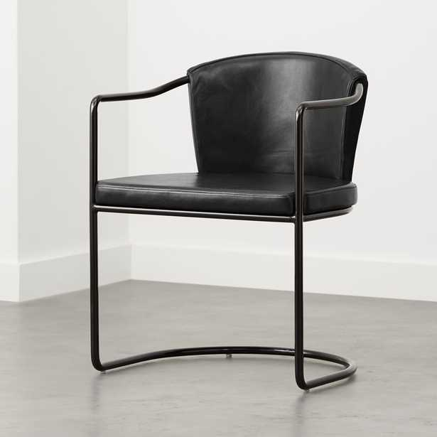 Cleo Black Cantilever Chair - CB2