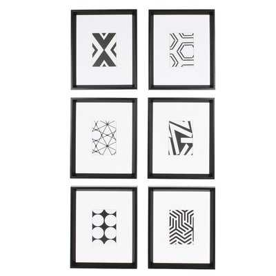 '6 Piece Picture Frame Graphic Art Print Set on Paper - AllModern