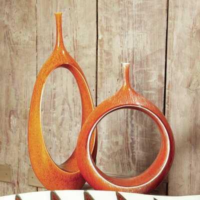 Open Oval Ring Floor Vase - Wayfair