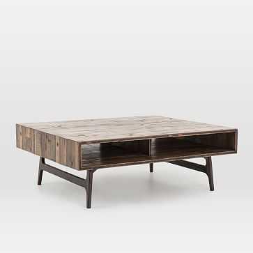 Modern Reclaimed Oak Coffee Table - West Elm