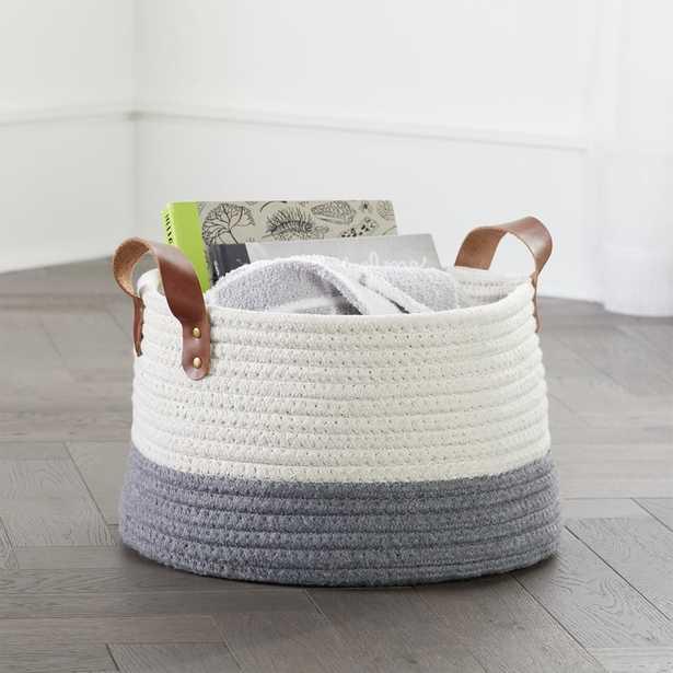 Leather Handle Medium Floor Rope Basket - Crate and Barrel
