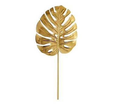 Lilly Pulitzer Gold Monstera Leaf Object, Small - Pottery Barn