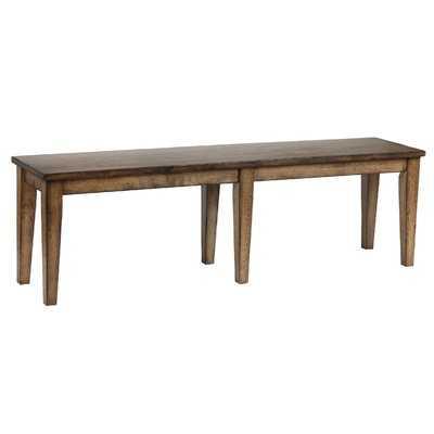 Slyvia Wood Bench - Wayfair