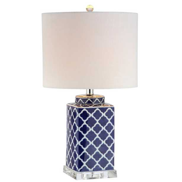 JONATHAN Y Clarke 23 in. H Blue/White Chinoiserie Table Lamp - Home Depot
