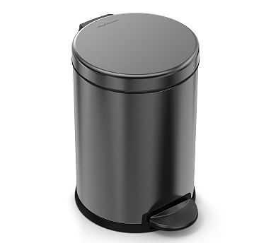 Simple Human 4.5 Litre Trash Can Black Steel - Pottery Barn