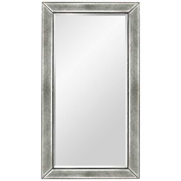 """Hollywood Glam Silver Leaf 36"""" x 48"""" Beaded Wall Mirror - Style # 58K42 - Lamps Plus"""