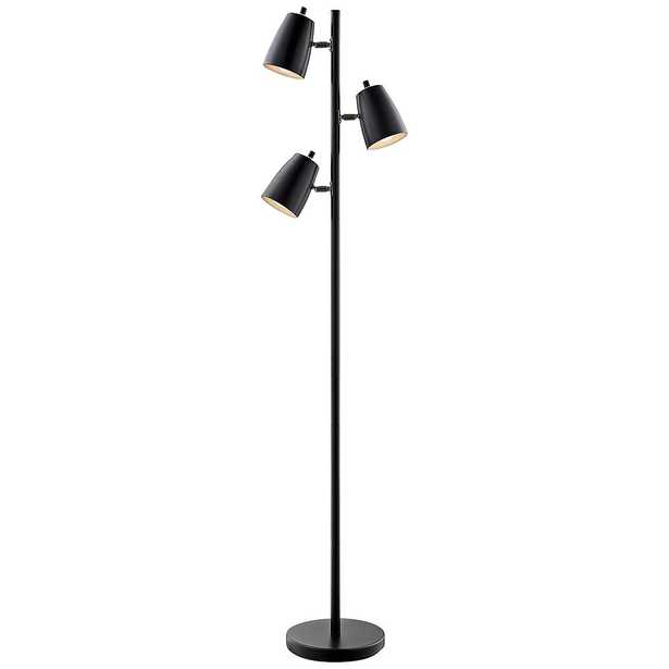 Lite Source Ronnie Black 3-Light Tree Floor Lamp - Lamps Plus