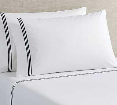 Grand Organic Extra Pillowcases, Set of 2, Standard, Midnight - Pottery Barn