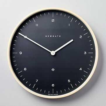 Newgate Mr. Clarke Clock, Large, Oil Gray - West Elm