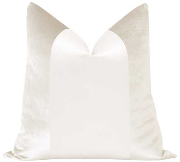 "PANEL :: Faux Silk Velvet // Alabaster - 22"" X 22"" - Little Design Company"