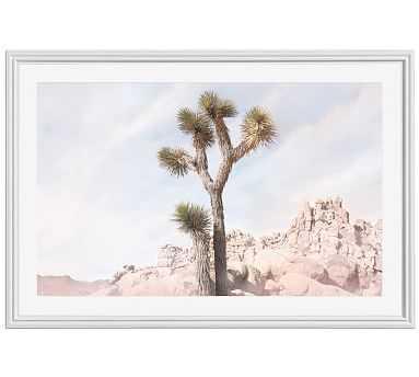 "Joshua Tree #5 Framed Print by Jane Wilder, 42 x 28"", Ridged Distressed Frame, White, Mat - Pottery Barn"