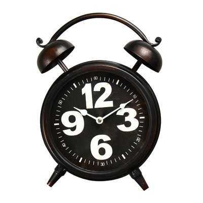 Old World-Inspired Retro Tabletop Clock - Wayfair